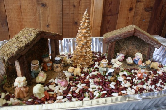 Christmas sensory bin for Preschoolers