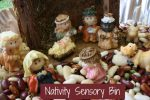 Nativity Sensory Bin for Kids to Play with at Christmas-time