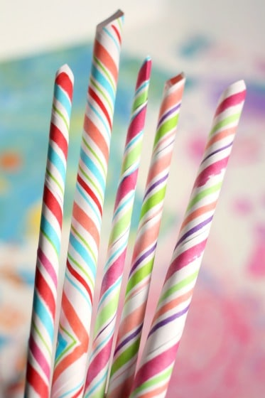 homemade paper candy cane ornaments for Christmas