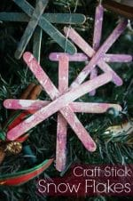 Popsicle Stick Snowflake Craft for Kids to Make