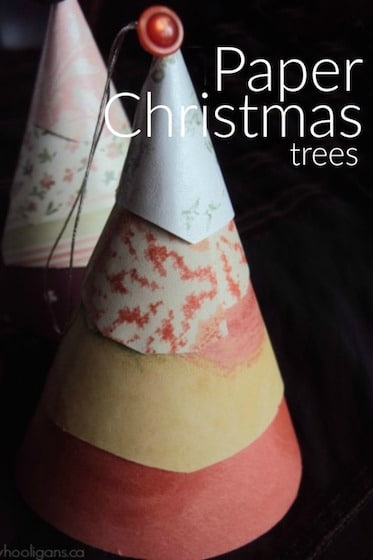 Layered Paper Cone Christmas Craft for Kids