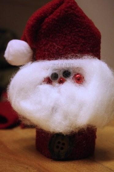 toilet roll santa christmas tree ornament