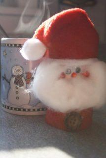 Toilet Roll Santa Ornament
