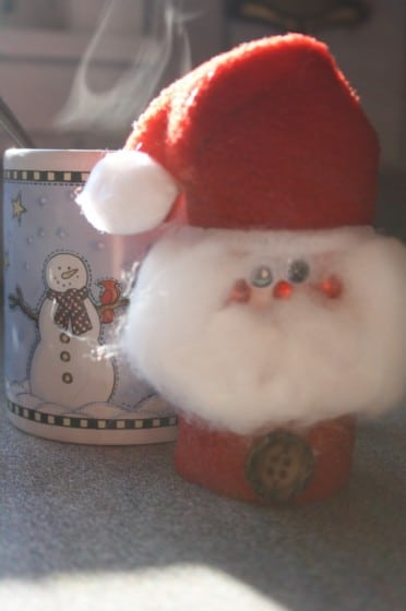 Toilet Roll Santa Ornament