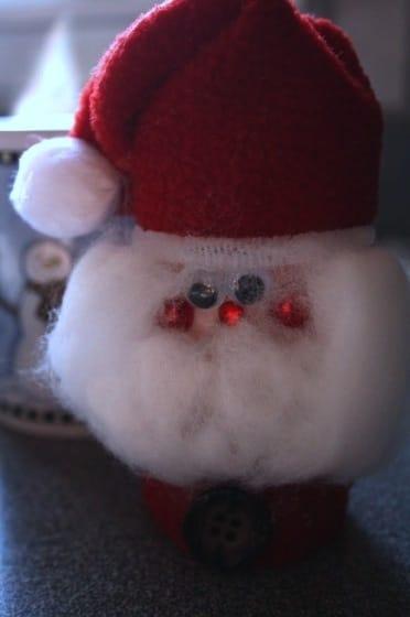 homemade santa christmas decoration