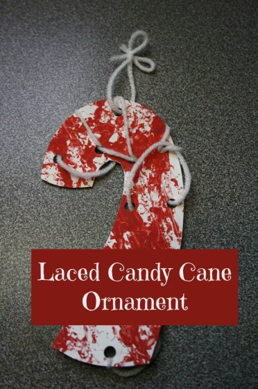 Candy Cane Craft for Toddlers – Lacing Activity and Homemade Ornament