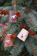 Toilet Roll Reindeer Ornament for Kids to Make
