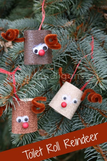 paper ball reindeer craft toilet roll reindeer ornaments happy hooligans 5070
