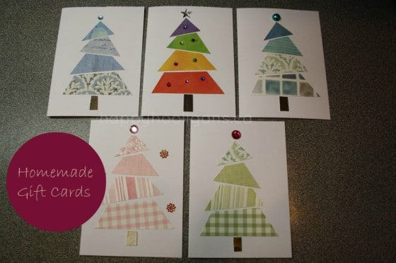 Homemade Cards from Wallpaper Samples and Fabric Scraps