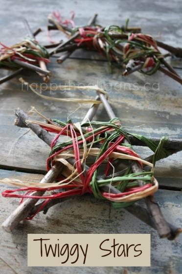 Twig and Raffia Star Ornaments for Kids to Make