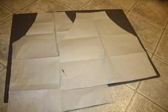 pattern for child's repurpsed denim apron