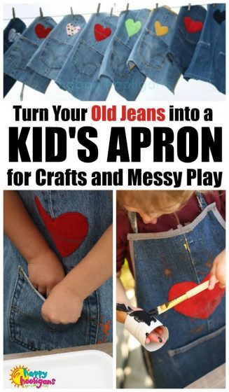 Kids Apron from Jeans