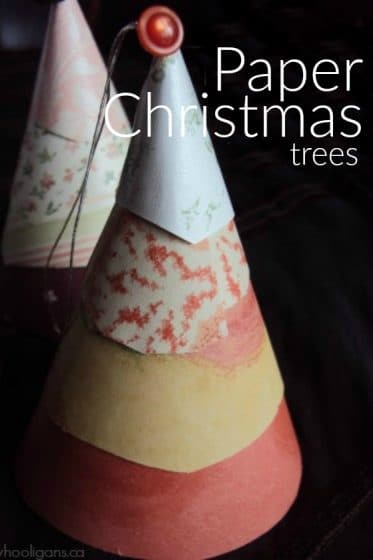 layered paper cone christmas craft