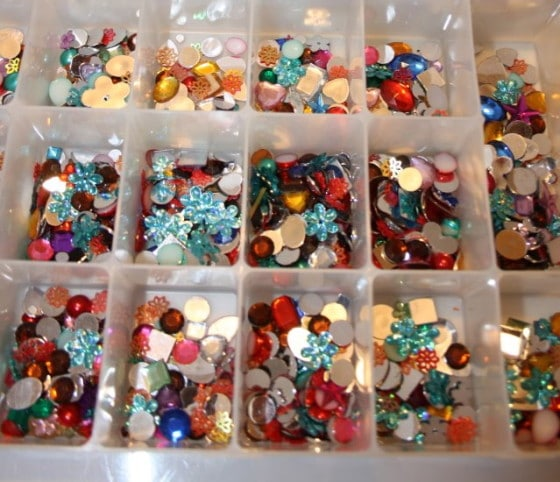 box of craft gems