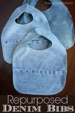 How to Make the Best Baby Bibs from Old Jeans and Tee Shirts