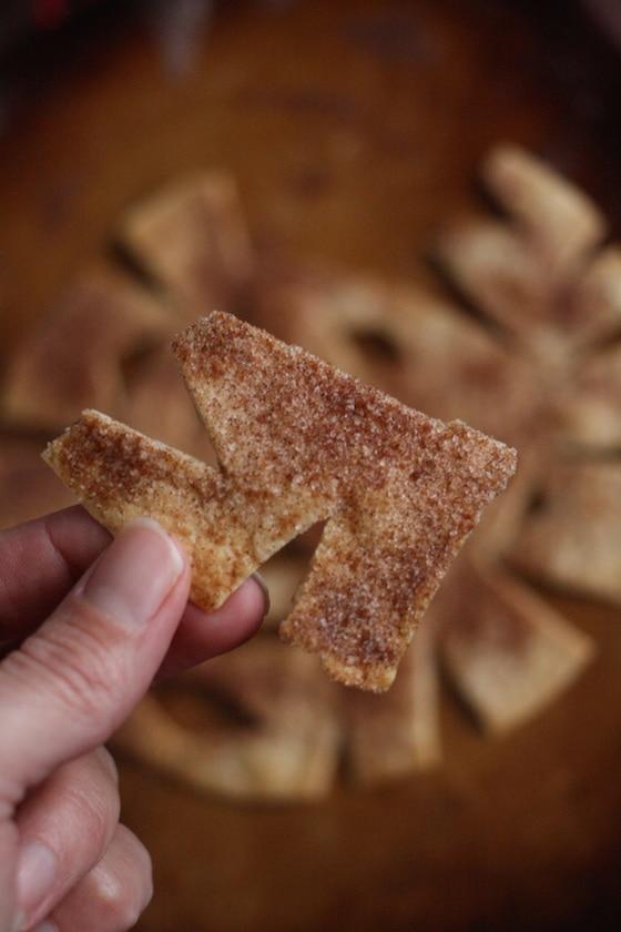 Cris[y Cinnamon-Sugar Snowflakes