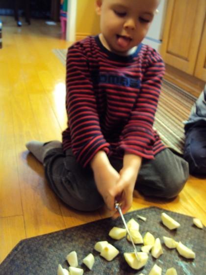 kids using knives