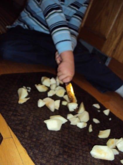 preschooler practicing cutting skills