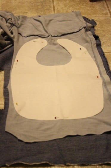 making a homemade baby bib