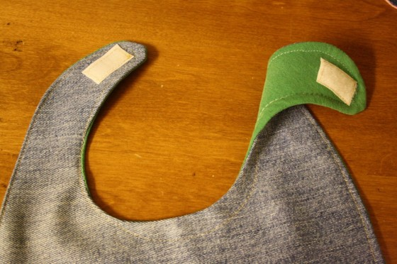 How to make a homemade bib from an old pair of jeans