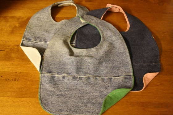 repurposed denim bibs