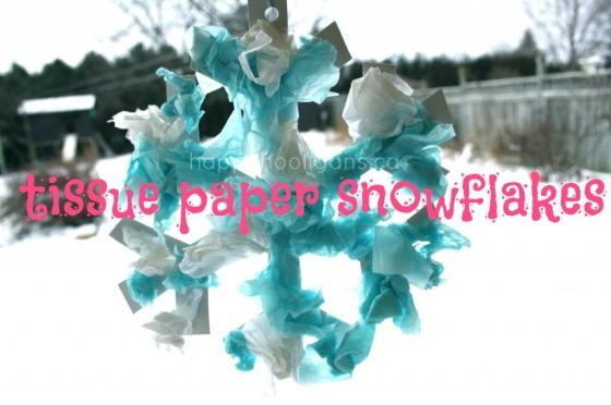tissue paper snowflakes