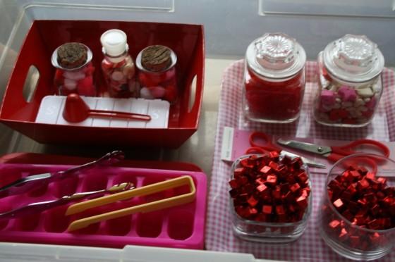 Valentines Activity Bin