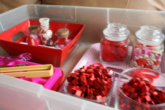 Close up Valentines Activity Bin for toddlers and preschoolers
