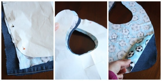 pinning and cutting out bib