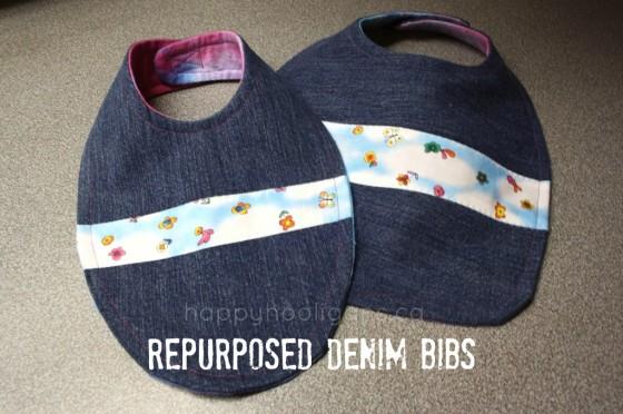repurposed denim bibs