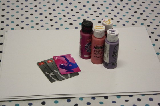 painting with credit cards supplies