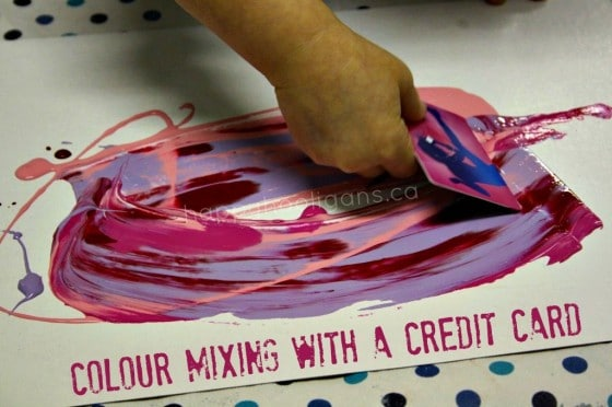 Scrape-painted Valentines for toddlers to make