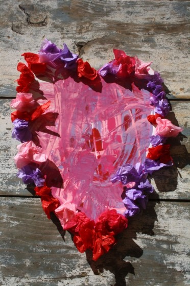 Scrape Painted Valentines Happy Hooligans