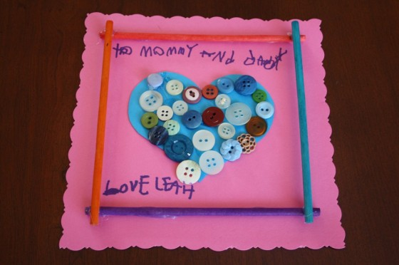Button Hearts Valentines Art for Toddlers