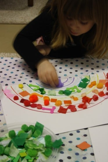 Rainbow Collage Craft For Toddlers Happy Hooligans