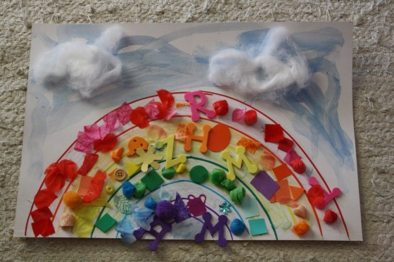 Rainbow Collage Craft For Toddlers