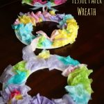 Easter tissue paper wreath