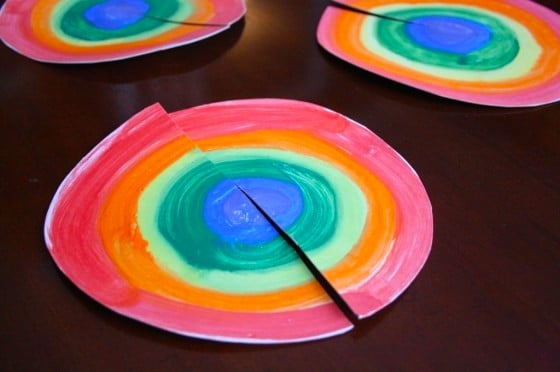 rainbow circles cut in half