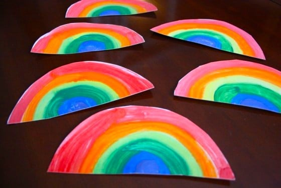 painted rainbows