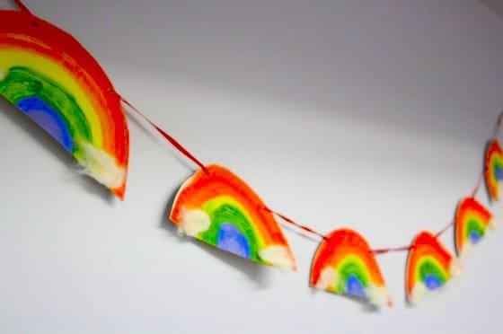 rainbow bunting for preschoolers