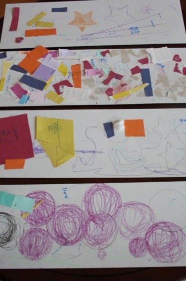 process art made by toddlers and preschoolers
