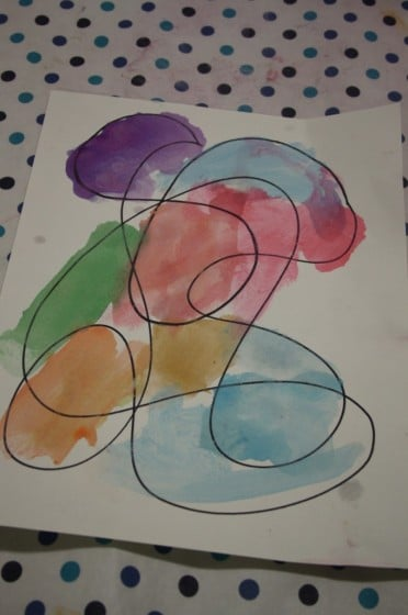 Child painted Homemade Doodle Art