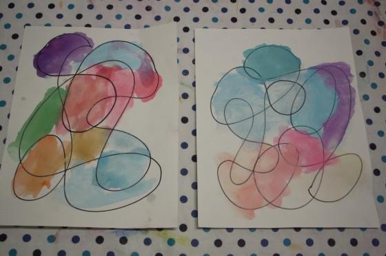 Hand Drawn doodle Art for preschoolers