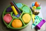 Homemade Playdough in a Rainbow of Colours