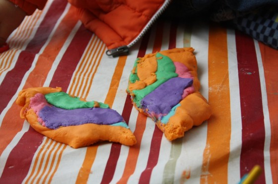 cut up play dough