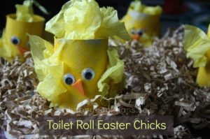 toilet roll easter chicks craft for preschoolers