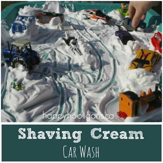 shaving cream car wash