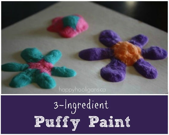 3 ingredient homemade puffy paint