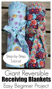 How to Make an extra-large flannel receiving blanket for baby