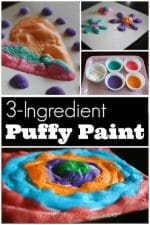 3-Ingredient Homemade Puffy Paint – an Easy Microwaveable Recipe
